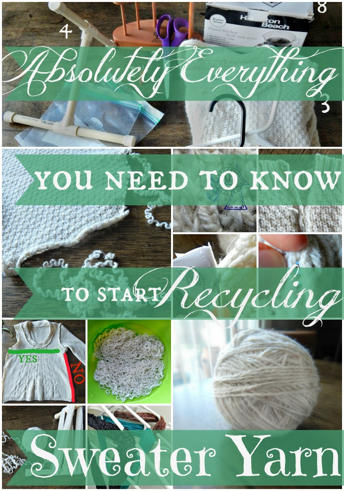 Everything You Need to Know to Start Recycling Sweater Yarn – Getting Started & Breaking In V.1