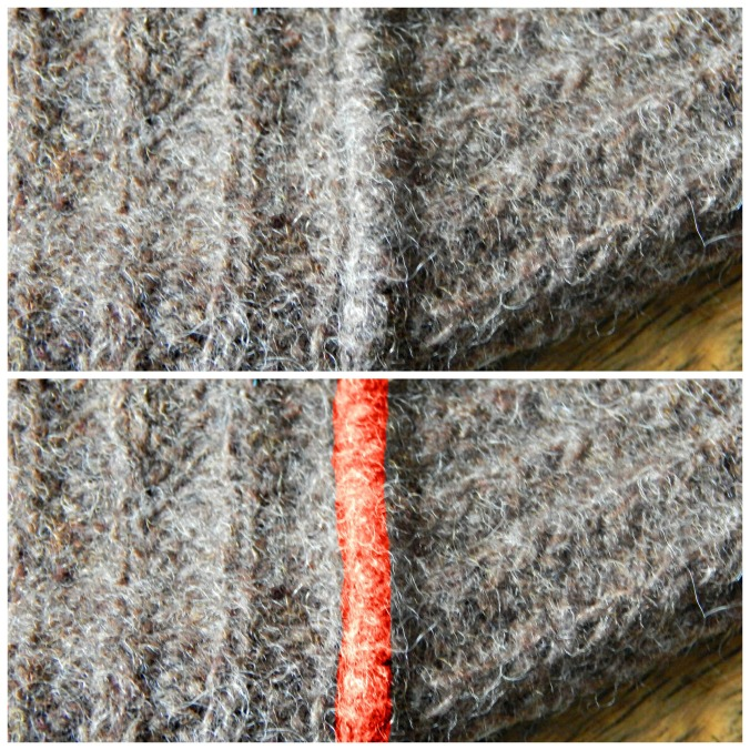 Top: Incorrect Seam Bottom: Incorrect Seam, highlighted