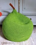 Crochet Pear Pouf