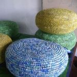 Crochet Plastic Bag Pouf
