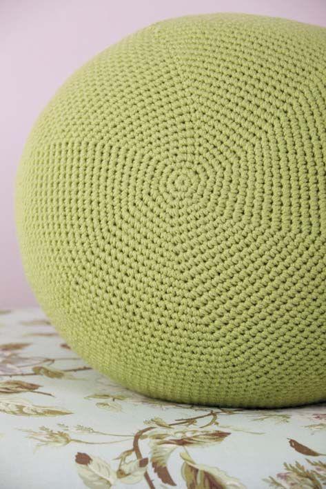 Pattern gallery the pouf collection morale fiber - Crochet pouf ottoman pattern free ...