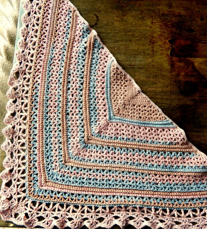 Recycled Sweater Yarn shawl 2