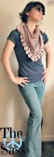Recycle Sweater Yarn Shawl