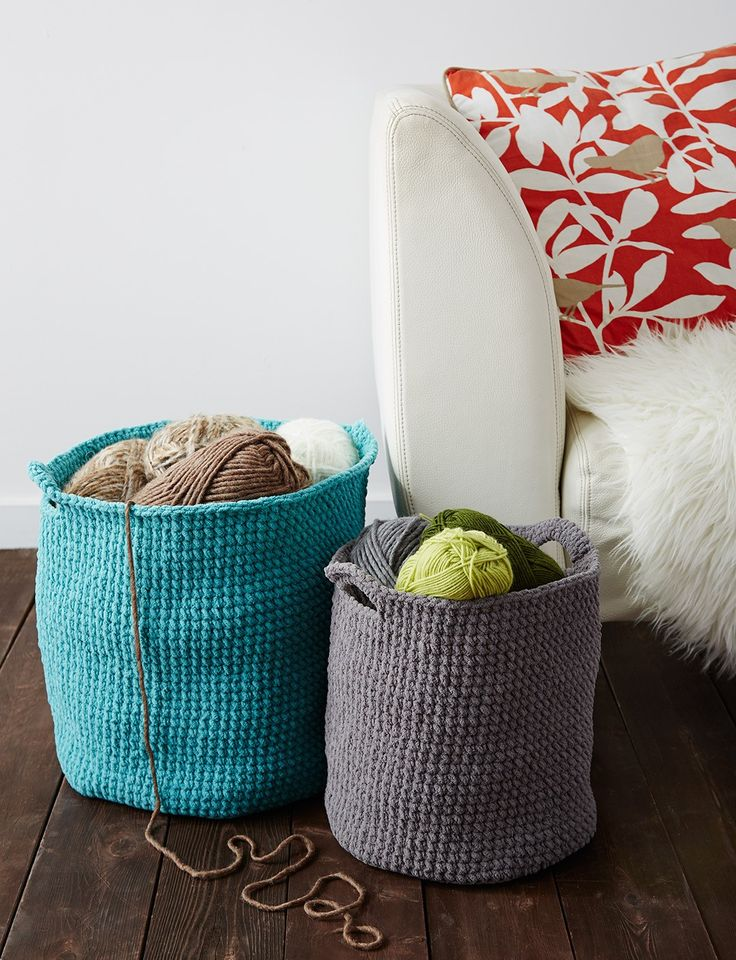 Pattern Gallery: Crocheted Baskets Morale Fiber