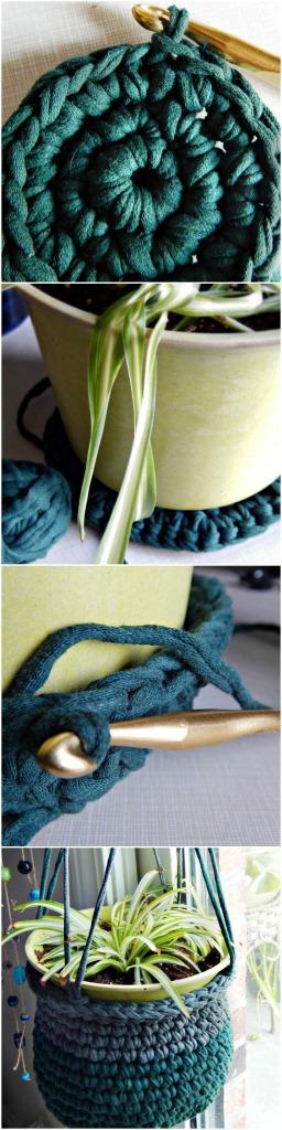 Tshirt Yarn Plant Hanger